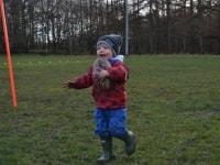 Max muddy but happy