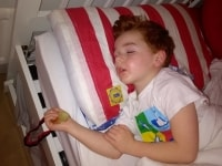 Roman dreaming of his next rugby medal...maybe even a workd cup one!  2